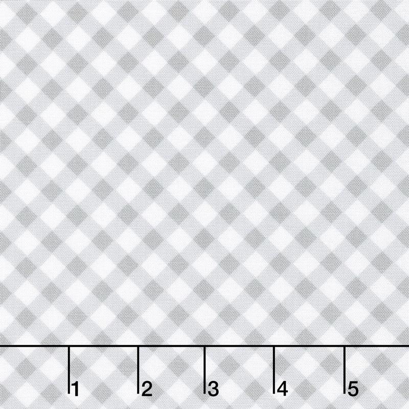 Greenery - Diagonal Check Grey Yardage