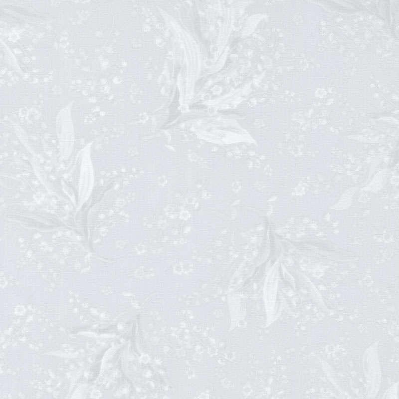 Greenery - Tonal Lily Light Grey Yardage