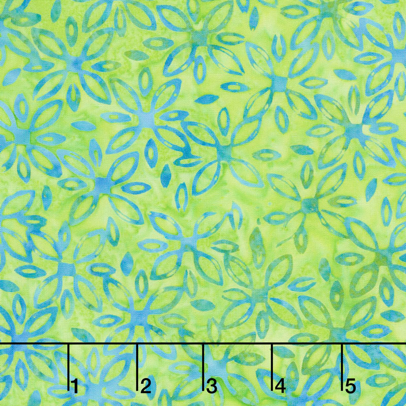 Kismet Batiks - Daisy Green Apple Yardage