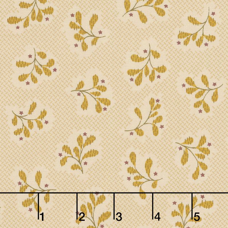 Wit & Wisdom - Leaf Clusters Cream Yardage