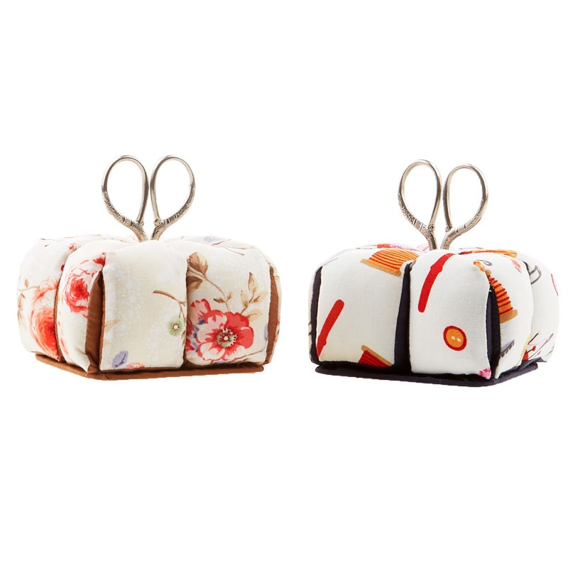 Fabric Pin Cushion with Scissors