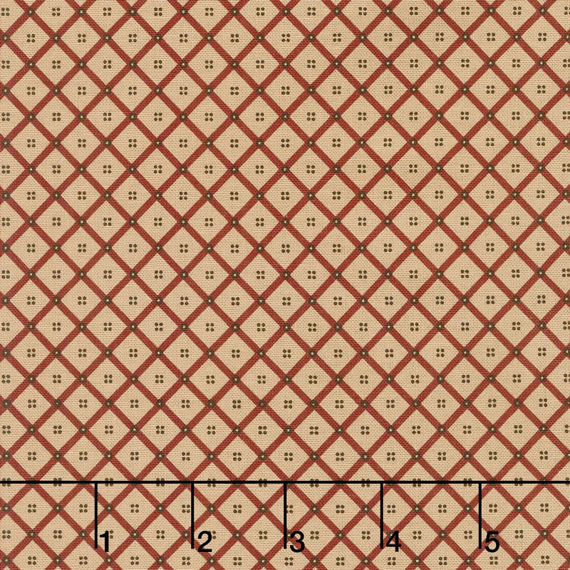 Shelbyville - Crosshatch Brick Red Yardage