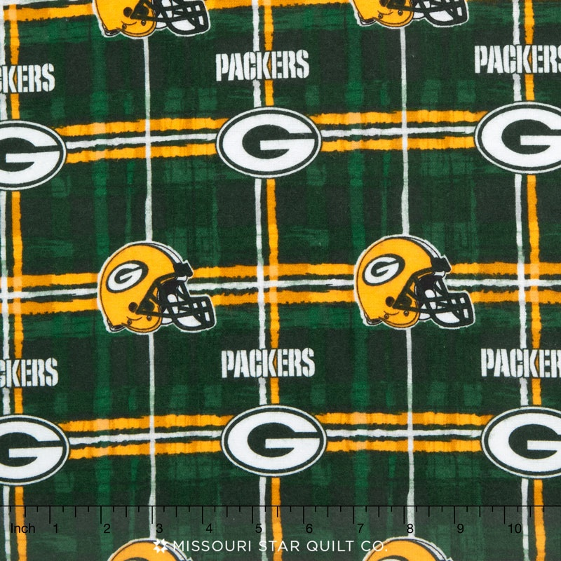 Nfl Green Bay Packers Flannel Yardage Fabric Traditions Fab