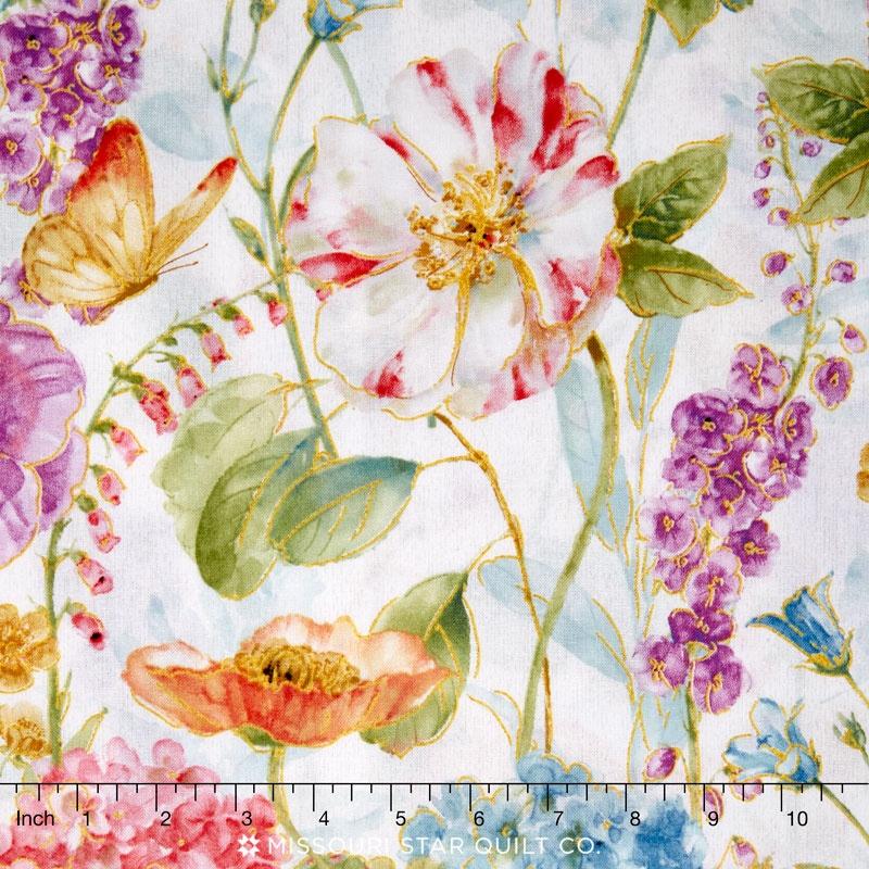 Rainbow Seeds - Large Floral Multi Yardage