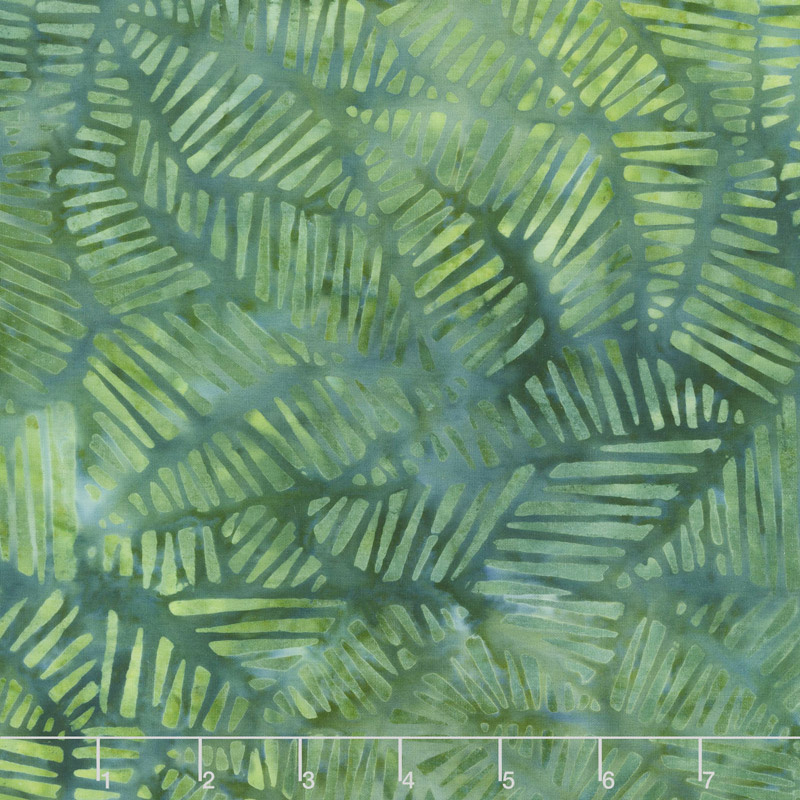 Ivy League Batiks - Stylized Puzzle Green Yardage