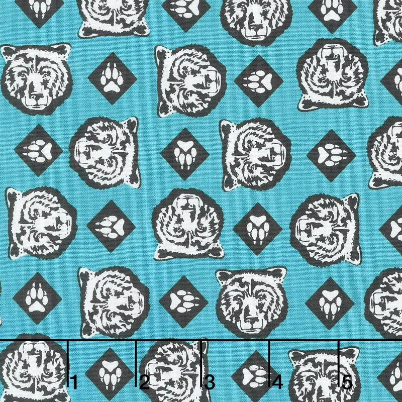 Cub Scouts - Cub Scouts Bear Teal Yardage