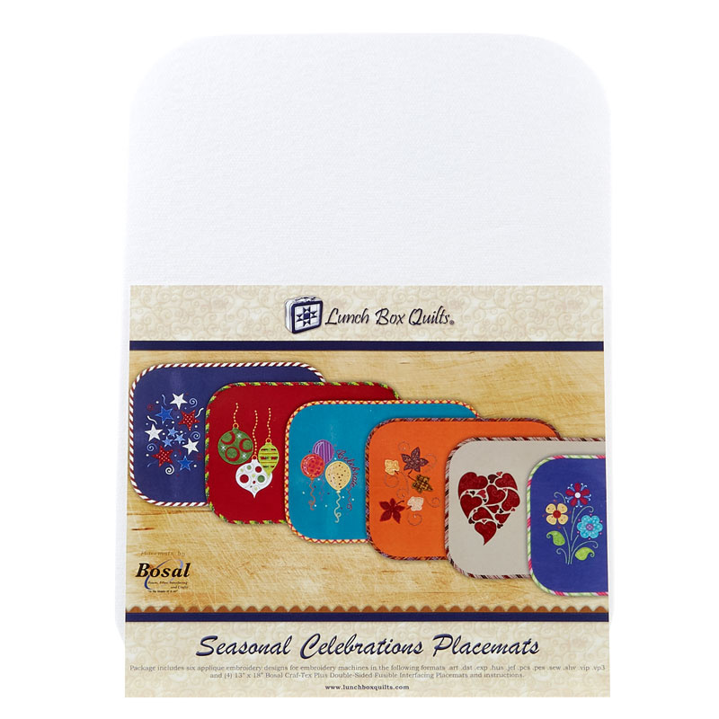 Seasonal Celebrations Place Mats with Embroidery CD
