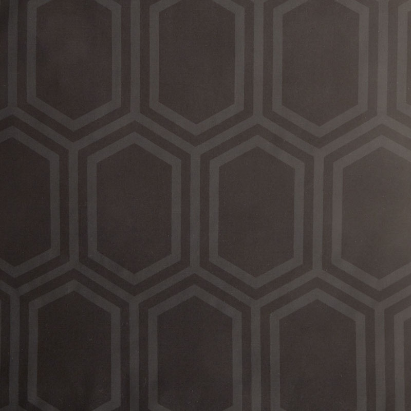 Opalescent - Hexagon Black Yardage | Camelot Design Studio