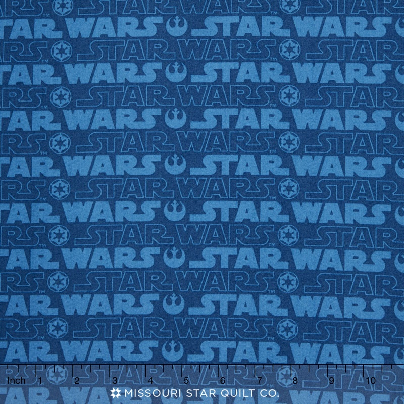 Star Wars 3 - Logo Blue Yardage