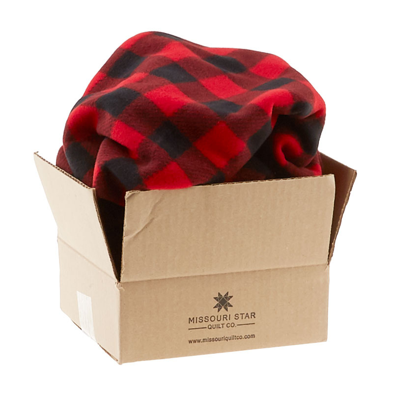 Winterfleece Prints Buffalo Plaids and Checks Red Fleece 1.5 Yard Cut