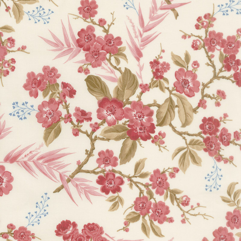 Little Sweetheart - Bouquet Raspberry Yardage