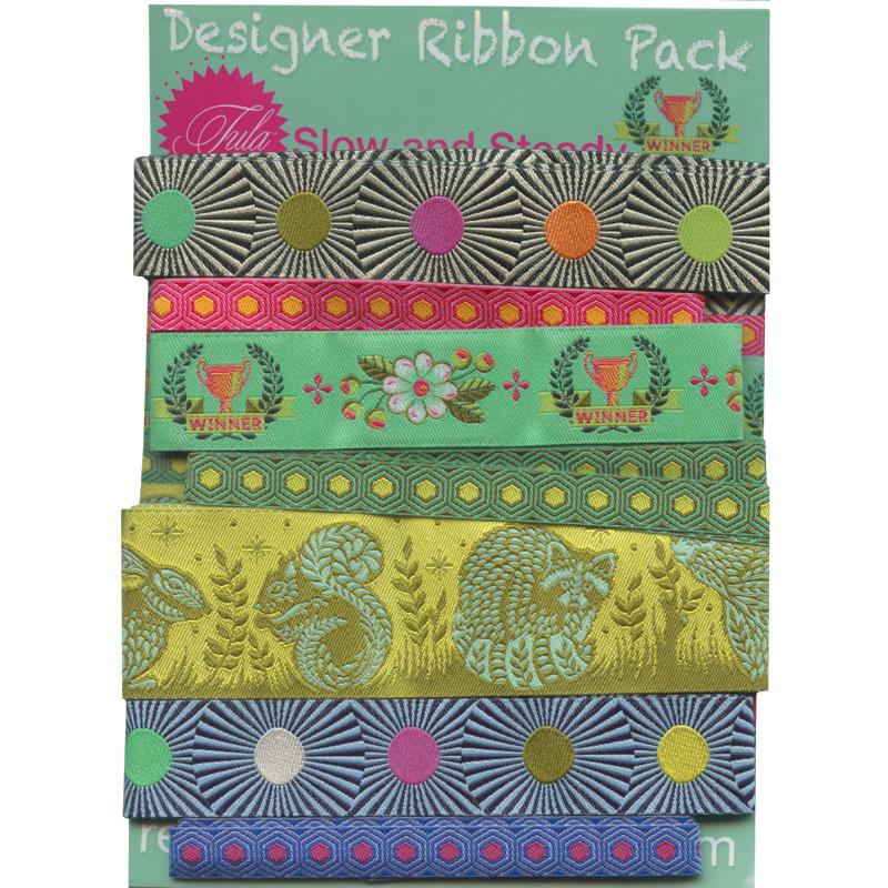 Tula Pink Slow & Steady Designer Ribbon Pack