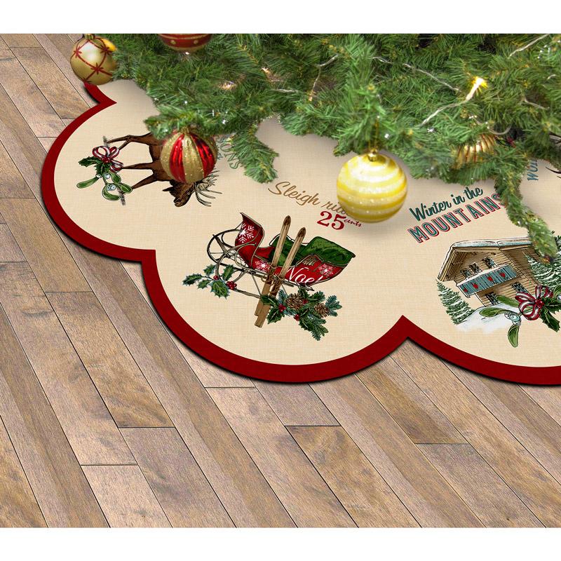 Spruce Mountain Christmas Table Topper or Tree Skirt Kit