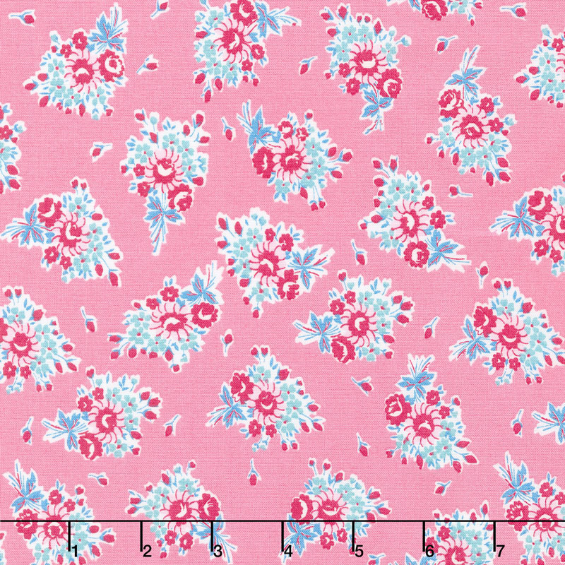 Everything But The Kitchen Sink 2017 - Bouquet Beauties Bubblegum Yardage