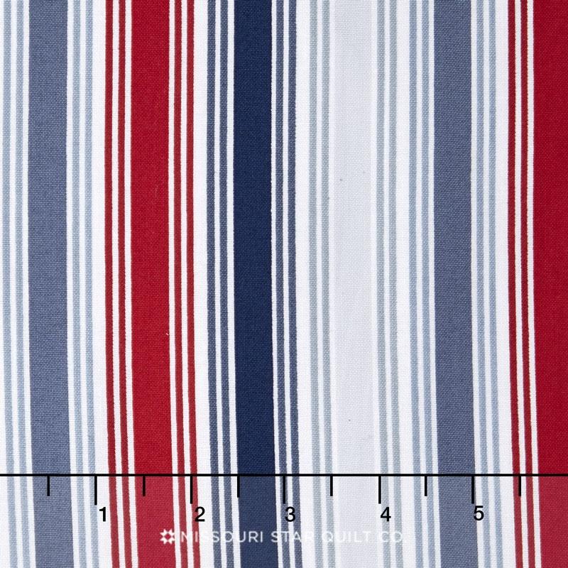 Marina - Multi Stripe Blue Yardage