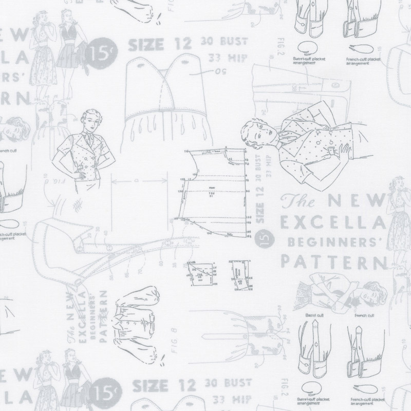 Modern Backgrounds More Paper - Cloth Pattern White Yardage