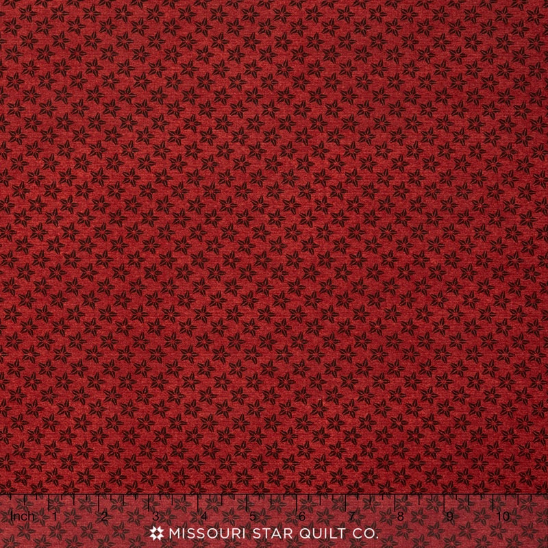 Farm to Table - Stars Red Yardage