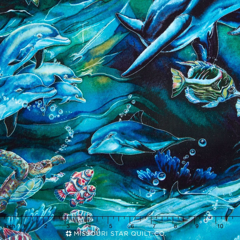 North American Wildlife - Fish Ocean Yardage
