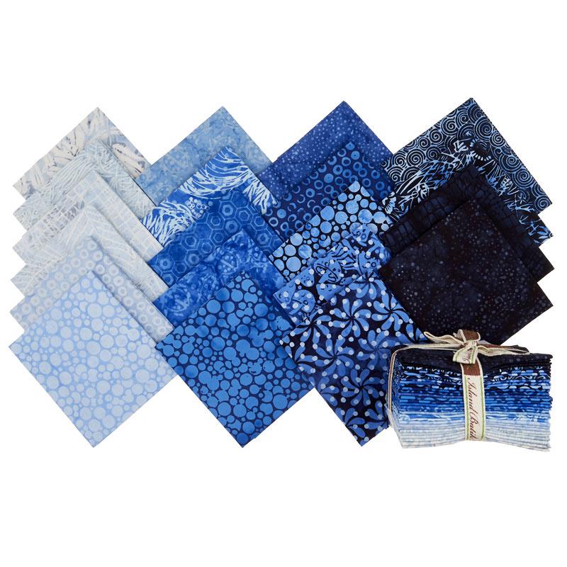 Blueberry Patch Batiks Fat Quarter Bundle