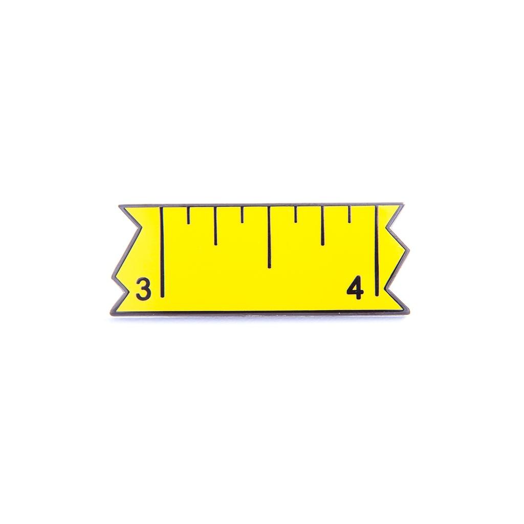 Broken Ruler Pin by Pin Peddlers