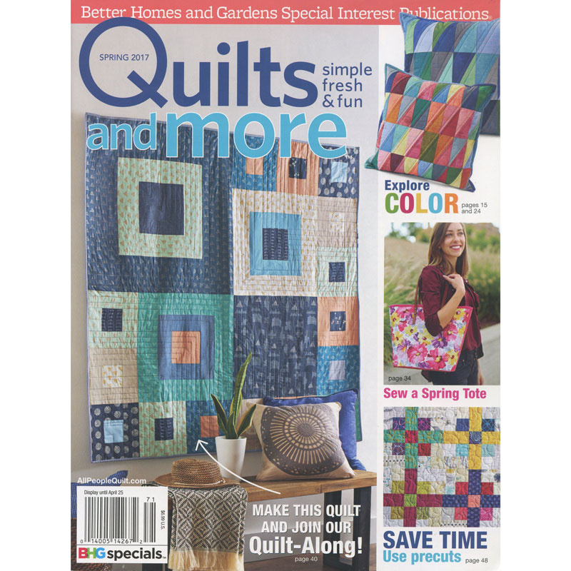 Better Homes & Gardens Quilts & More Spring 2017 - Meredith ... : better homes and gardens quilting - Adamdwight.com