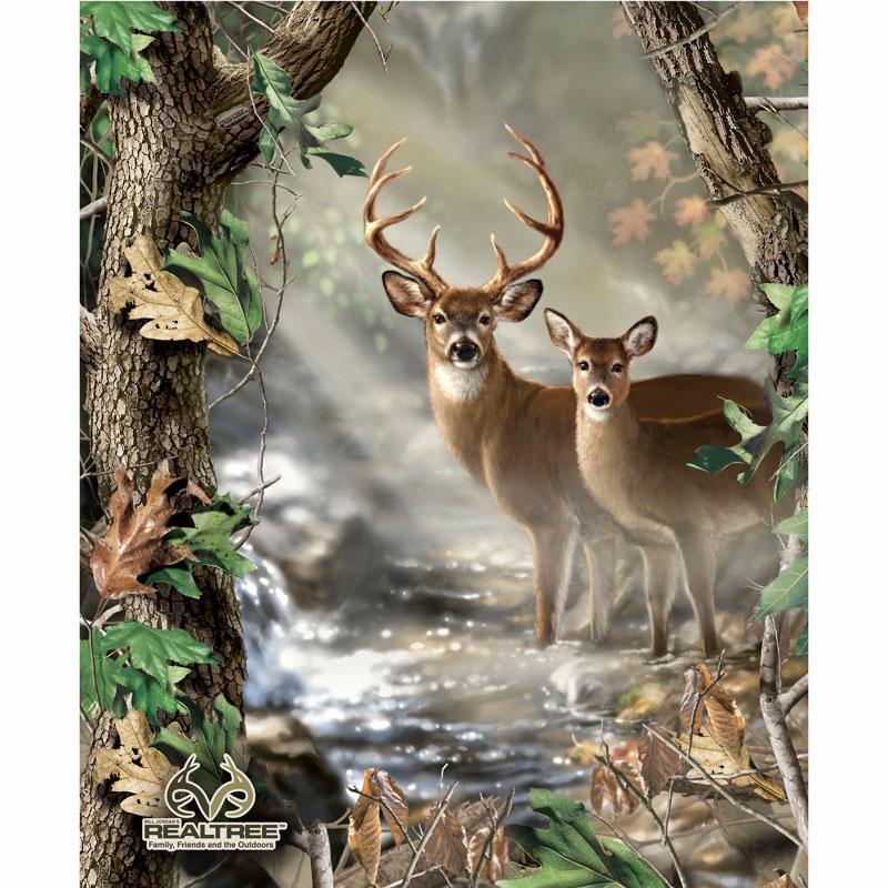 Realtree Deer Quilt Panel Sykel Enterprises Sykel