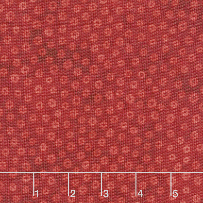 X's and O's - Little Cheerios Warm Red Yardage