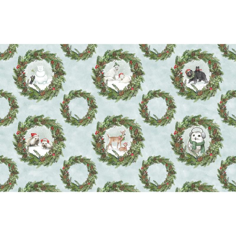 Woodland Friends - Wreaths Multi Panel