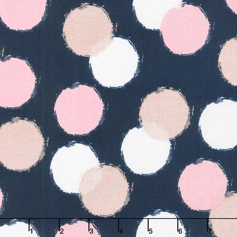 Blush - Puffs Blue Sparkle Yardage