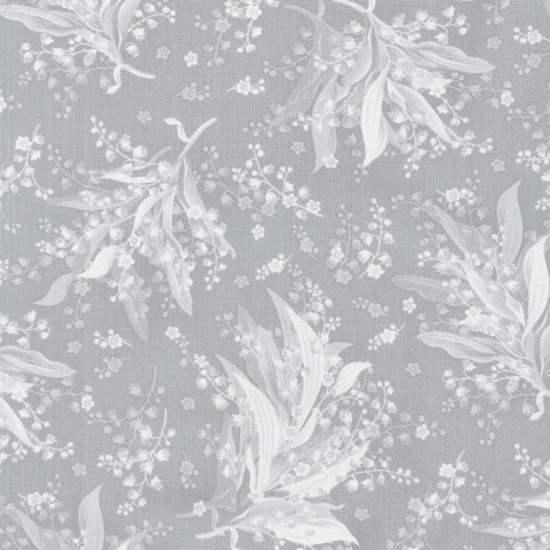 Greenery - Tonal Lily Grey Yardage