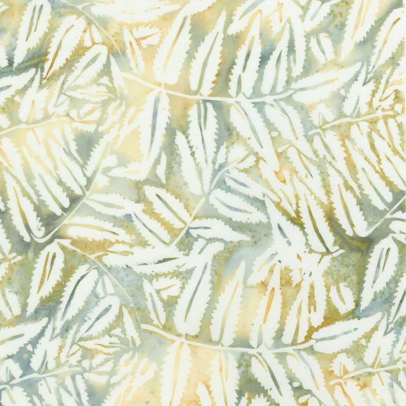 Sand Bar Batiks - Fern Leaves Hemp Yardage