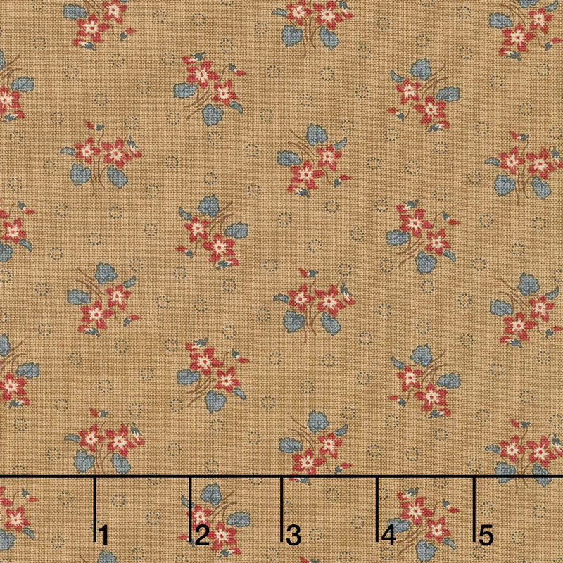 Hickory Road - Bouquet Light Brown Yardage