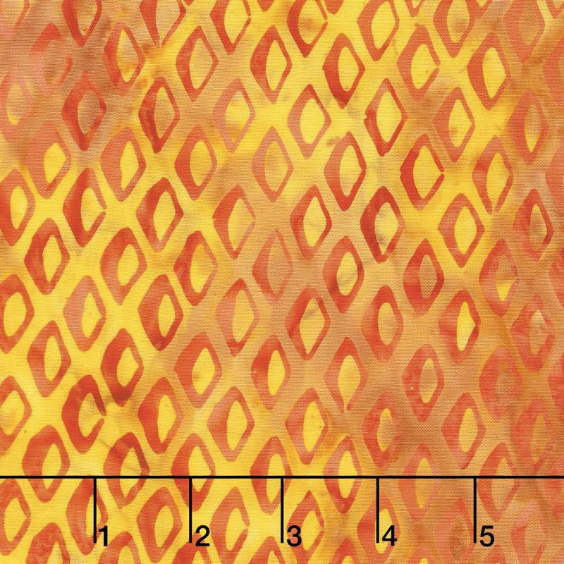 Ocean Odyssey Batiks - Fish Scales Candy Corn Yardage