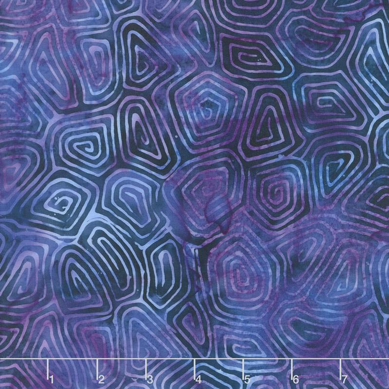 Crystal Sea Batiks - Turtle Shell Cloud Yardage