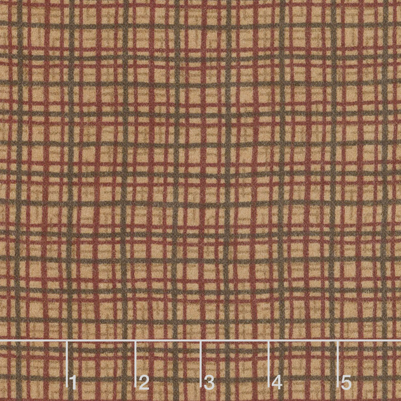 Frosted Flannels - Plaid Honey Yardage