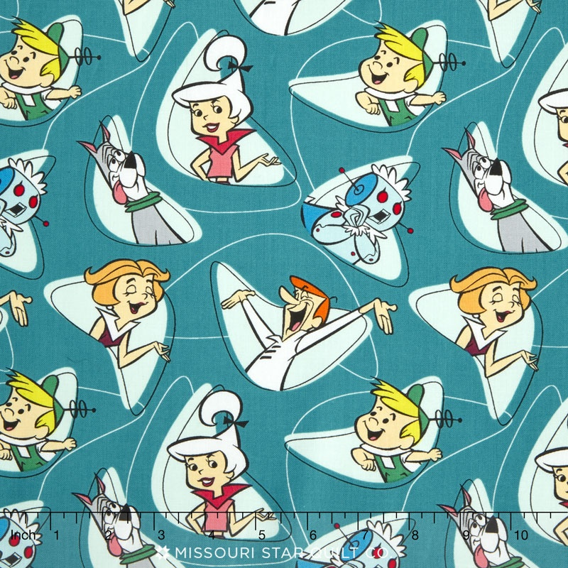 The Jetsons - Characters in Shapes Dark Blue Yardage - Camelot ...