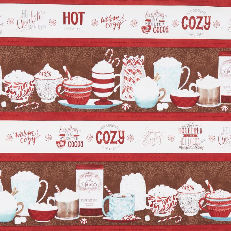 Cuppa Cocoa - Repeating Stripe Multi Yardage