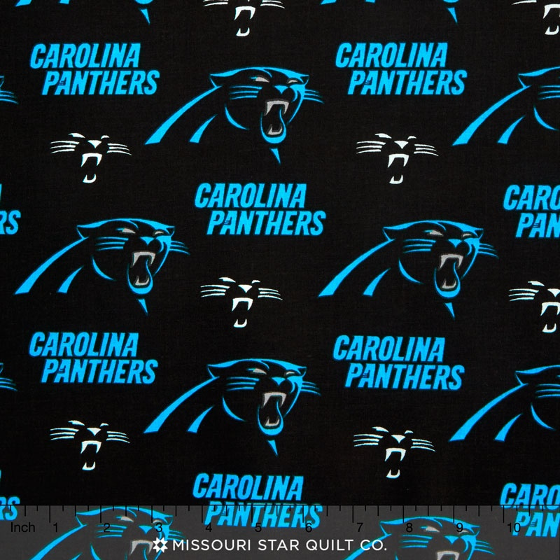 discount carolina panthers fabric
