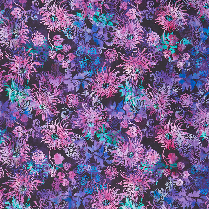 FloragraphixV Allover multi Cotton Quilt Fabric by In The Beginning 12 yard