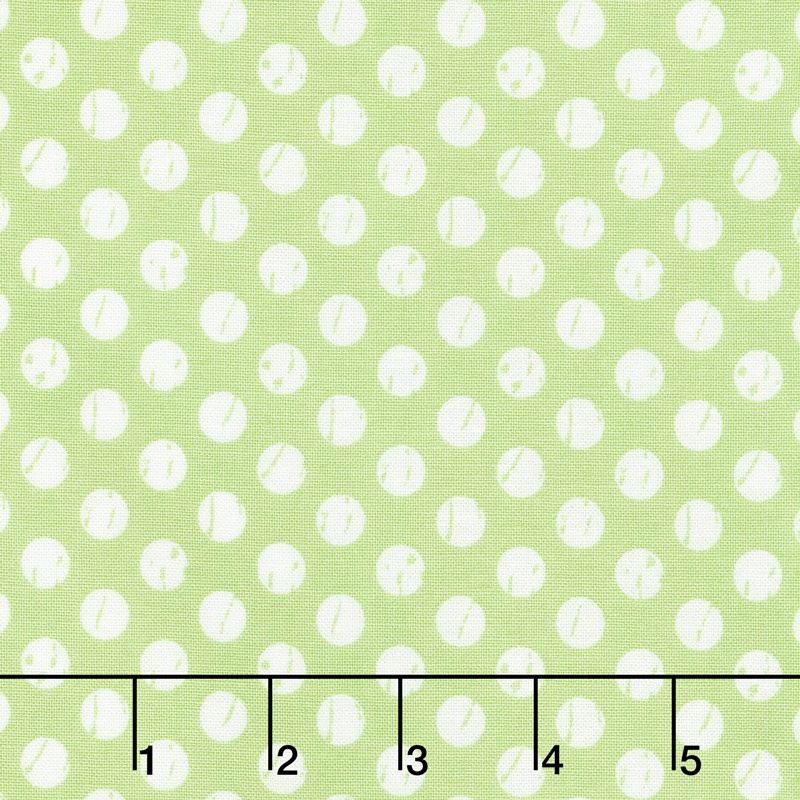 Lollipop Garden - Whitewashed Dots Apple Yardage