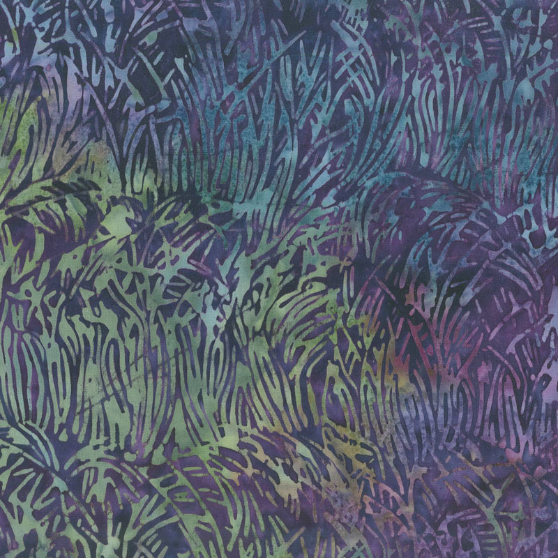 Magical Reef Batiks - Grass Peacock Yardage