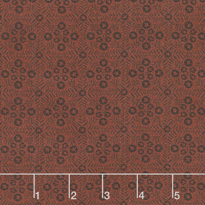 Itty Bitty - Tiles Red Yardage