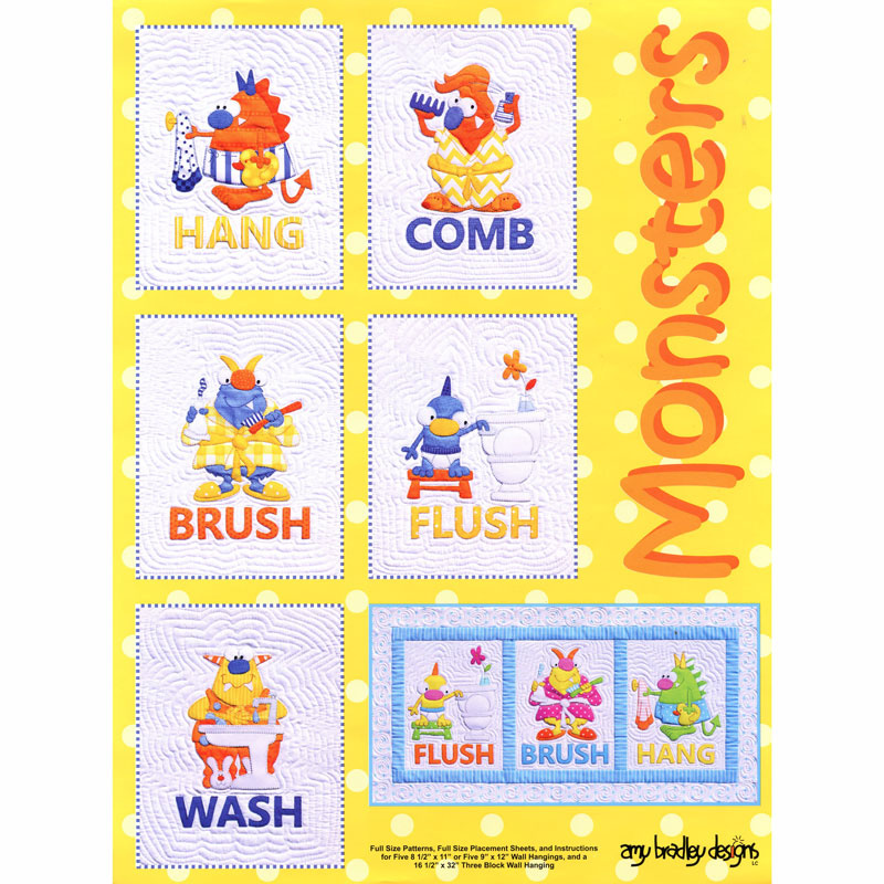 Monsters Mini Wallhanging Pattern