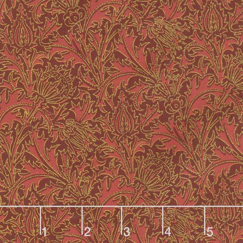 Morris Holiday 1897 - Thistle Crimson 108