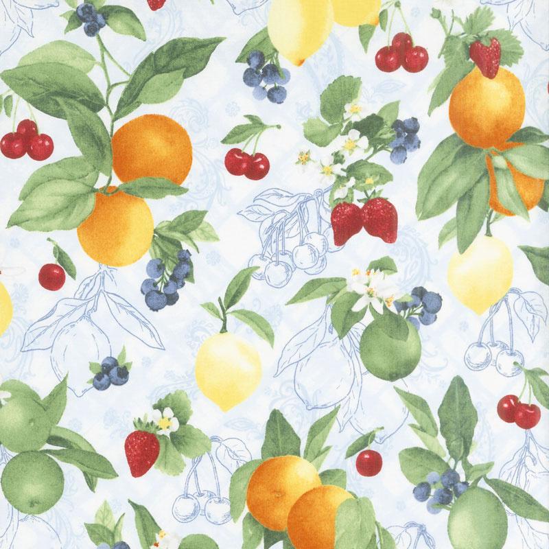 Ambrosia Farm - Orchard Blue Sky Fabric Yardage