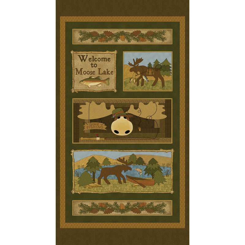 Moose Lake - Moose Lake Brown/Multi Panel