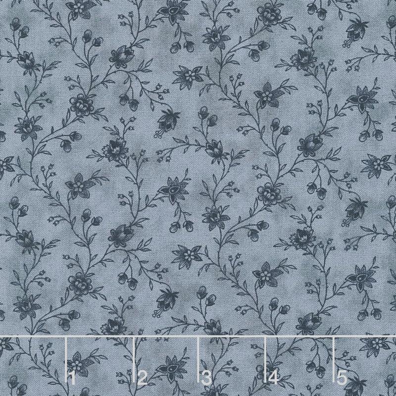 Snowberry - Floral Vine Midnight Yardage