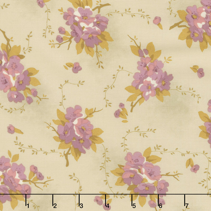 Bed of Roses - Dahlia Greige Yardage
