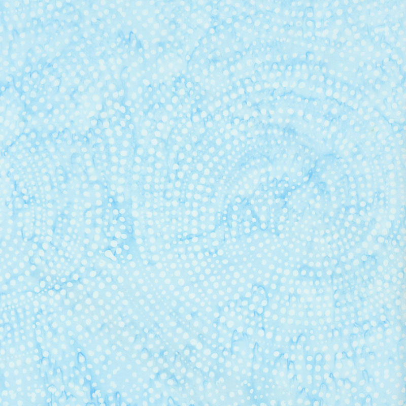 Tonga Batiks - Colorwheel Plume Dotty Spiral Ocean Yardage