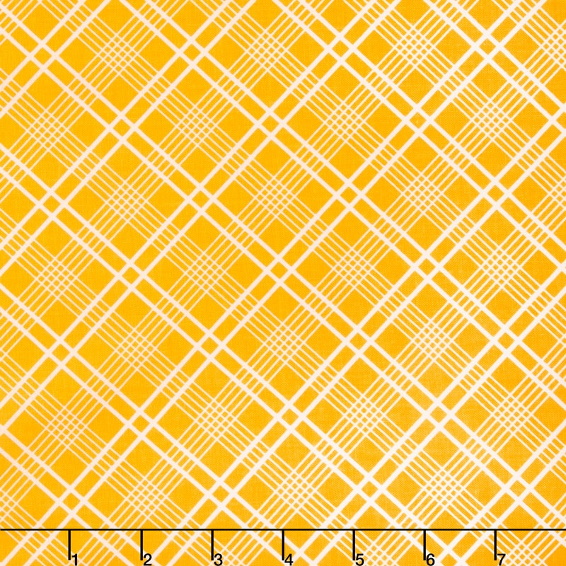 Gingham Girls - Gingham Plaid Yellow Yardage